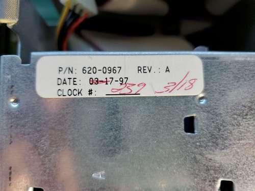 Power Mac 8600 Inside Date Sticker