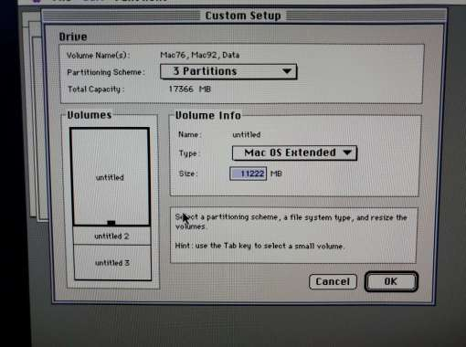 Mac OS 9 11GB HFS+ Partition