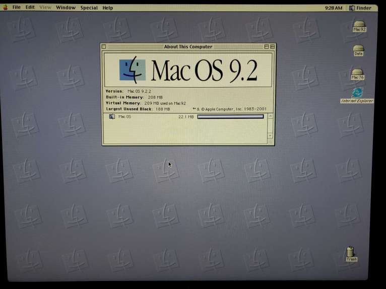Power Mac 8600 with 208MB RAM