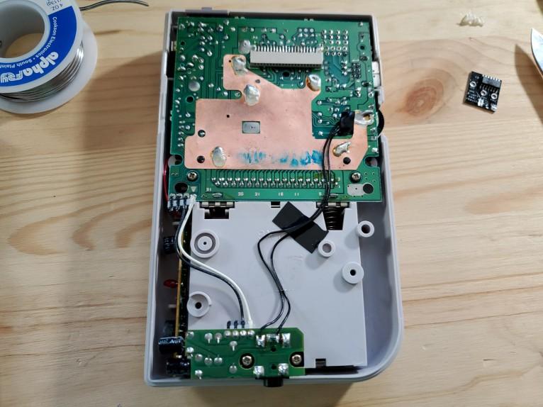 Game Boy Pro Sound mod reapplied