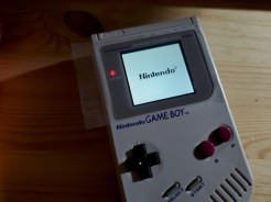 Game Boy with new glass lens applied