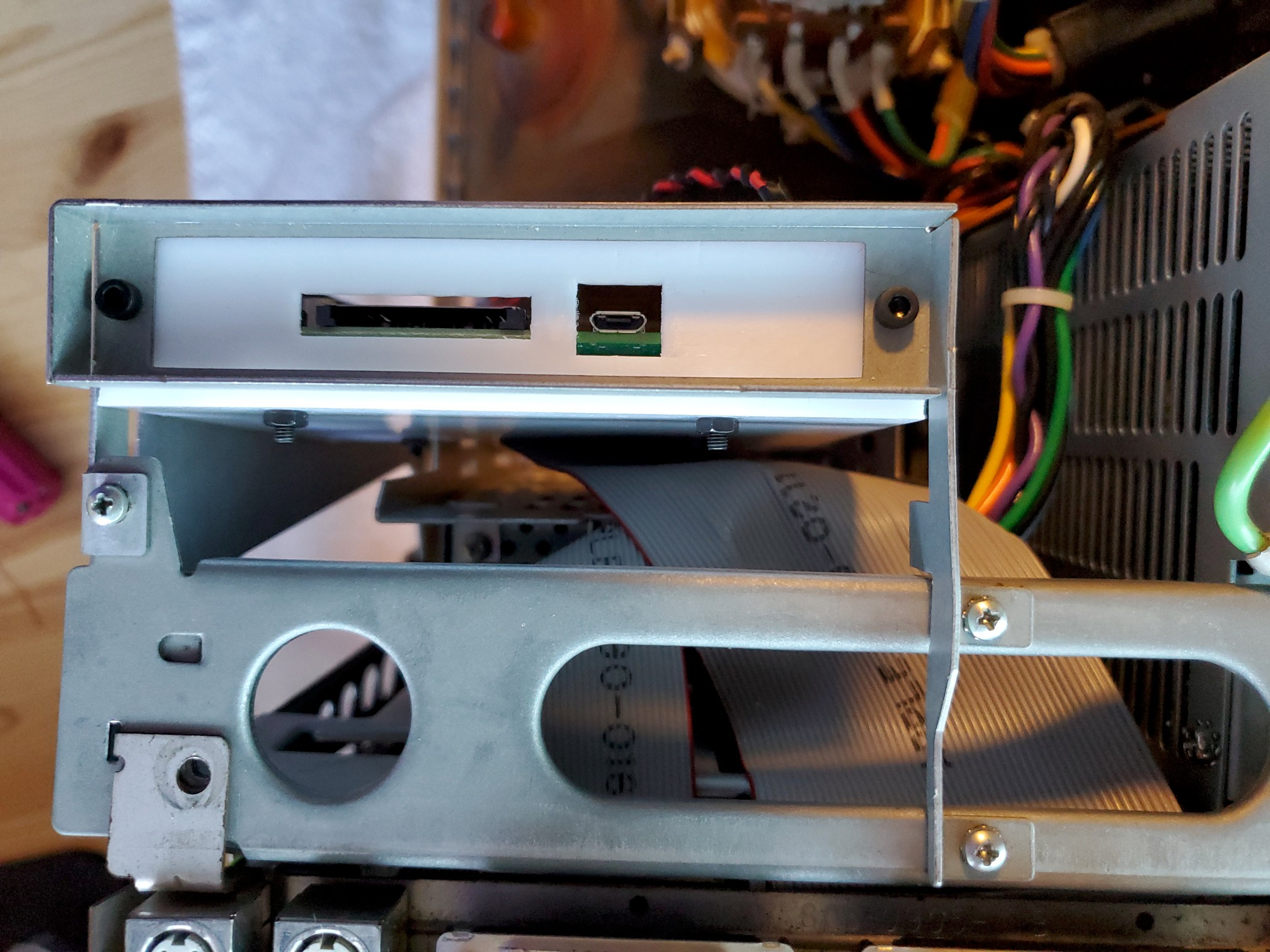 Mac SE/30 Rear with SCSI2SD Exposed