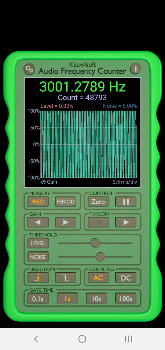 Audio Frequency Counter App
